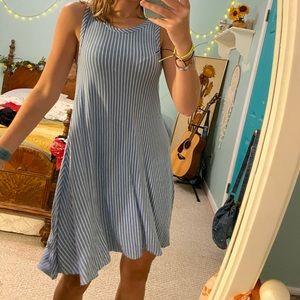 beachy striped dress